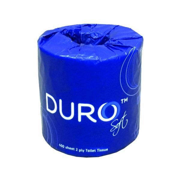 Duro toilet rolls 2 ply 400 sheet wrapped (48 rolls) - product code 023/400V