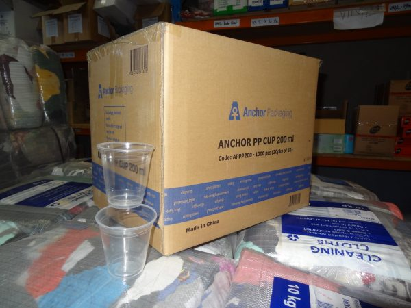APPP200 200ml Clear PP Cup x 1000