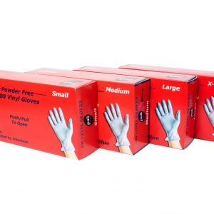 Vinyl powder free gloves (box of 100)