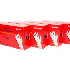 Vinyl gloves (box of 100)