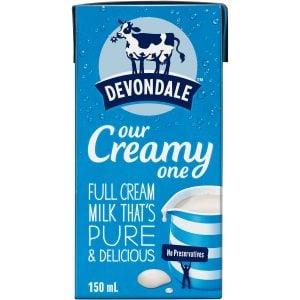 Devondale Full Cream Milk 150ml Tetra Pack