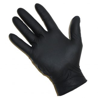 Nitrile black powder free gloves