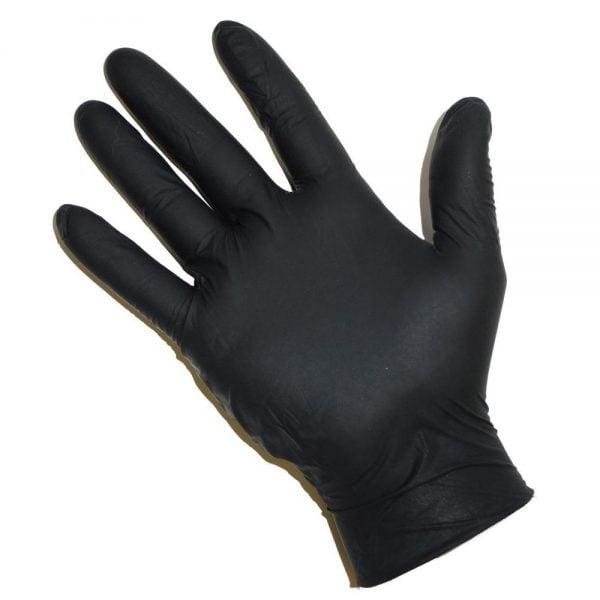 Nitrile black powder free gloves