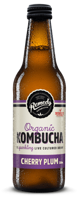 Remedy Kombucha Cherry Plum 330ml Spritzed