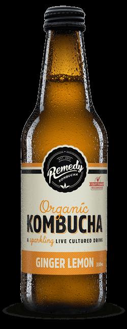 Remedy Kombucha Ginger Lemon 330ml Spritzed