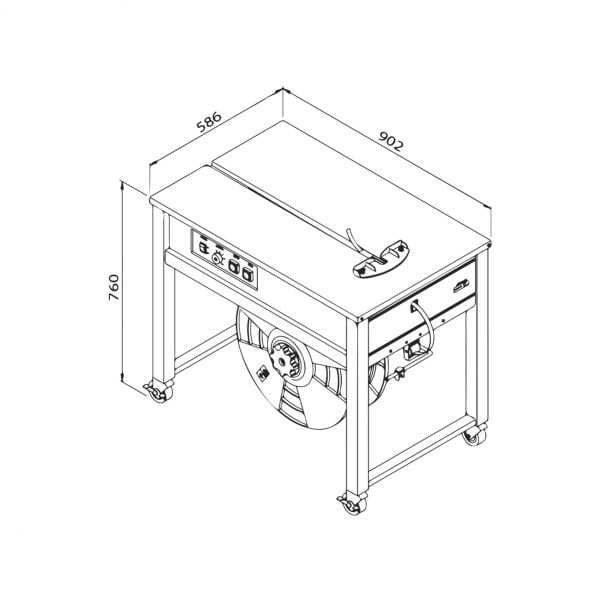 Packline TMS-300OF Technical Drawing