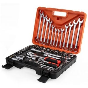 Satagood 61pcs Socket Ratchet Wrench Automobile Professional-Repair Tools Kit Torque Wrench Combination Bit