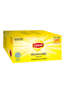Lipton Yellow Label Quality Black Envelope Cup Bags 1200s